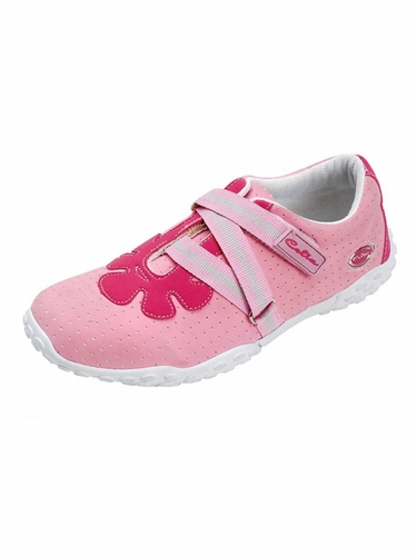 Pink Flower Pattern Cut Shoes