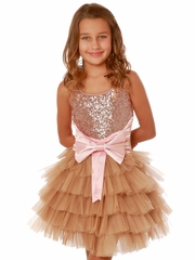 CLEARANCE - Ooh! La La! Couture Pink/Gold WOW Anneliese Dress