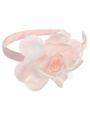 Pink Headband w/ Large Rose
