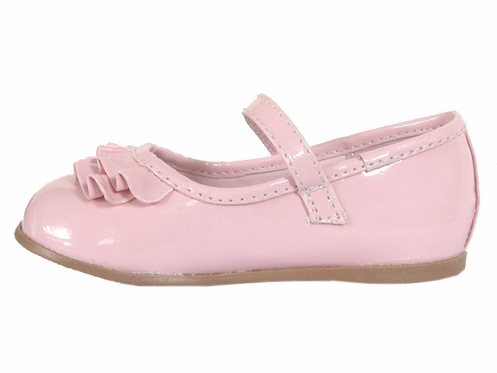 Pink Josmo First Walker Top Ruffle Buckle Shoes
