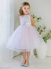 Pink Lace & Tulle Dress