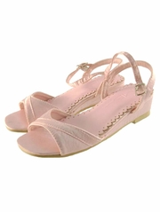 Pink Low Profile Wedge Heel Shoes
