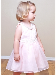 Pink Mae Li Rose Pearl Necklace Dress