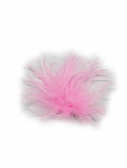 Pink Ostrich Feather Clip