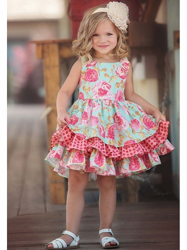 Pink Persnickety A Pocket Full Of Posies Adeline Dress