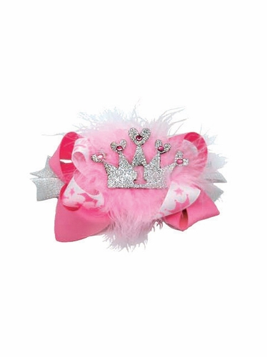 Pink Princess Birthday Bow