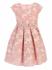 Pink Raised Daisy Jacquard w/ Bow