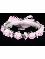 CLEARANCE: Pink Rose Wreath