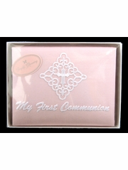 "Pink Silk ""My First Communion"" Photo Album"