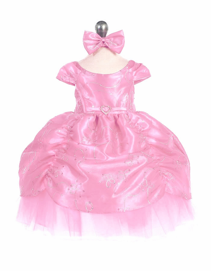 4ca97cdea ... Taffeta Embroidered Cinderella Baby Dress. Click to Enlarge ...