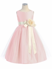 CLEARANCE - Pink Vintage Satin Tulle Dress