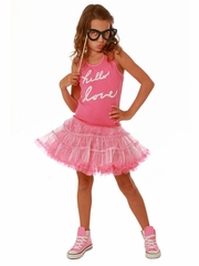 Ooh! La La! Couture Pink/White Hello love Dress