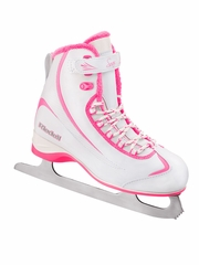 Pink/White Riedell Ice Skates 615 Girls Shoes w/ Soar Stainless Blade