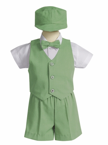 Pistachio 5 Piece Polyester Shorts Set