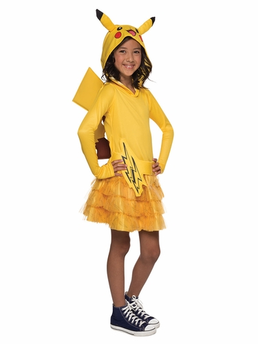 Pokémon Girls Pikachu Hoodie Dress