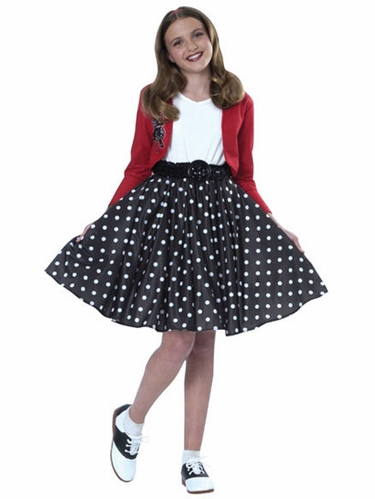 Polka Dot Rocker Girls Costume