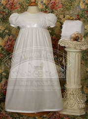 PolyCotton Gown W/Lace Trim