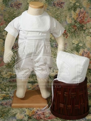 Polycotton Romper with Screened Cross