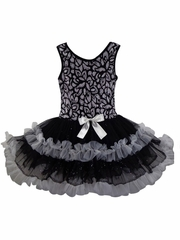Popatu 934 Little Girls Black Petti Dress