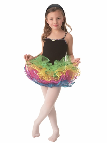 Popatu Black Velvet Multi Colored Tutu w/ Sequins Trim