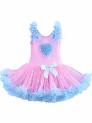 Popatu Blue Ruffle Heart PettiDress