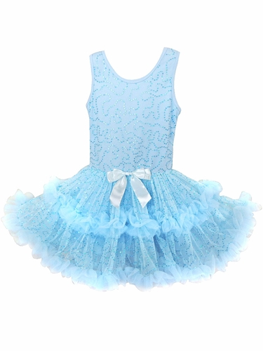 Popatu Blue Sparkle Petti Dress