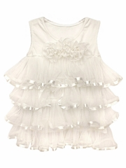 Popatu Cream Ruffle Dress
