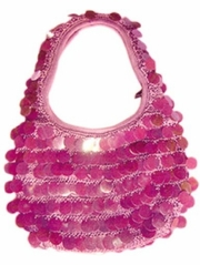 Popatu Hot Pink Mini Sequins Hobo Bag Purse