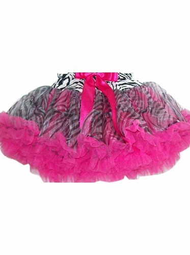Popatu Hot Pink Soft Pettiskirt w/Zebra Pattern