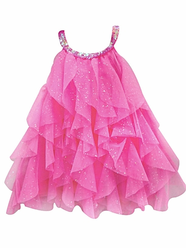 Popatu Hot Pink Wave Dress