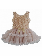 Popatu Champagne Sparkly Petti Dress