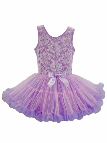 Popatu Lavender Lace Petti Dress