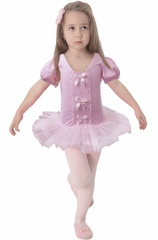 Popatu Pink Cap Sleeve Dance Dress w/3 Bows