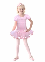 Popatu Pink Cap Sleeve Princess Dance Dress