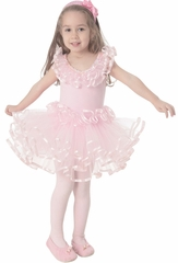 Popatu Pink Dance Dress w/Layered Tulle