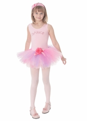 Popatu Pink �Dance� Dress w/Rhinestones & Multicolor Tutu