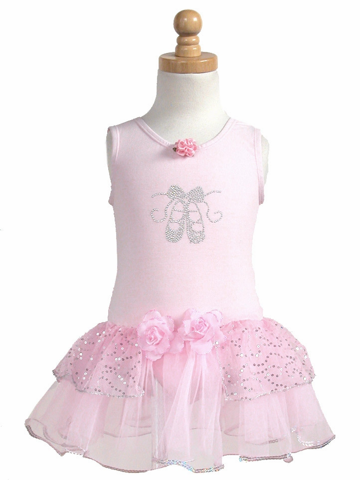 39095e0ad8c5 Popatu Pink Dance Playing Dress w Rhinestone Ballet Shoes