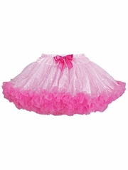 Popatu Pink/Hot Pink Sequin PettiSkirt