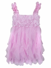 Popatu Pink Rosette Dress