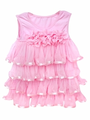 Popatu Pink Ruffle Dress