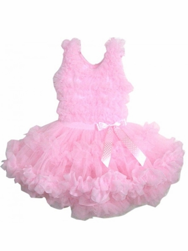 Popatu Pink Ruffle Petti Dress w/ Bow