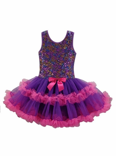 Popatu Purple Sequin Petti Dress