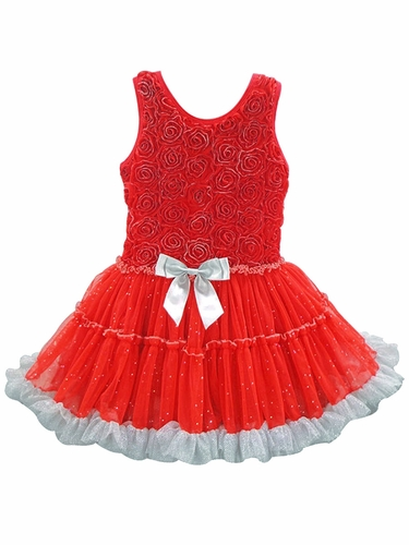 Popatu Red & Silver Petti Dress