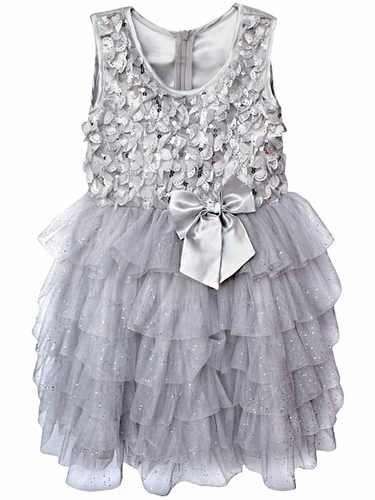 Popatu Silver Sequin Dress