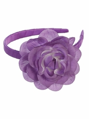 Purple Headband w/ Large Flower
