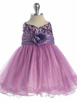 Purple / Lavender Sequined Bodice Pageant Dress