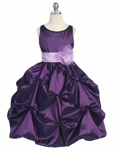 Purple/Lilac Taffeta Bubble Pick Up Dress