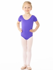 Mondor Purple Essentials Short Sleeve Leotard