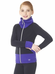 Mondor Purple Polartec Cowl Neck Jacket