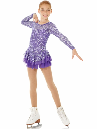 CLEARANCE - Mondor Purple Sparkling Skating Dress